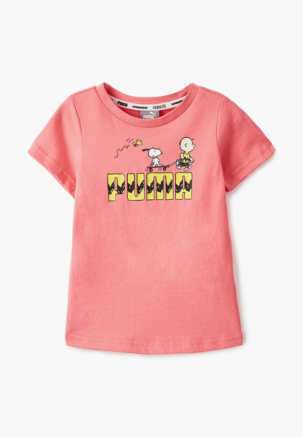 футболка puma для девочки, розовая