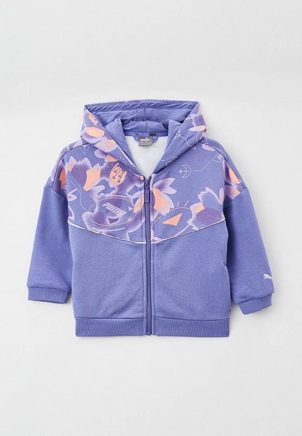 толстовка puma для девочки, фиолетовая