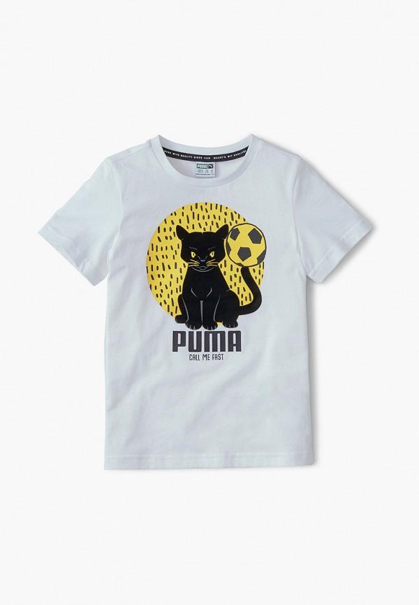 футболка puma малыши, белая