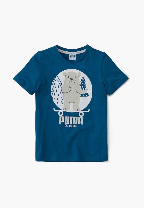 футболка puma малыши, синяя