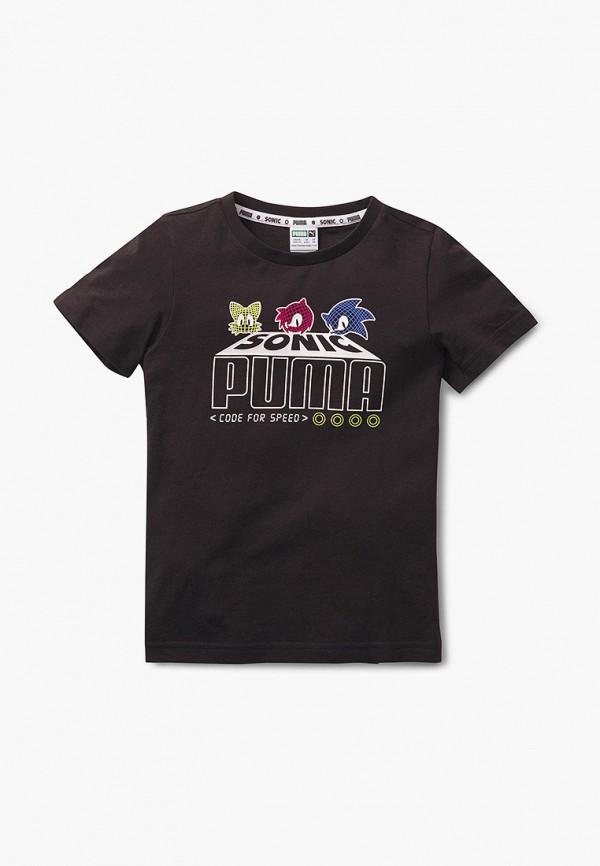 футболка puma малыши, черная