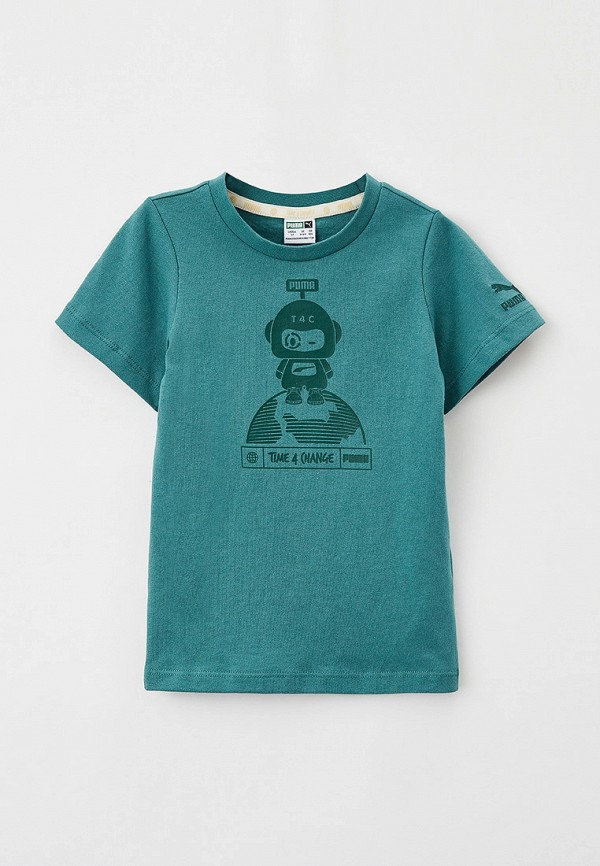 футболка puma малыши, зеленая