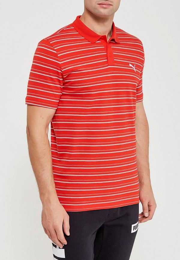 Купить Поло PUMA, ESS Sports Stripe Pique Polo, pu053emamum4, красный, Весна-лето 2018