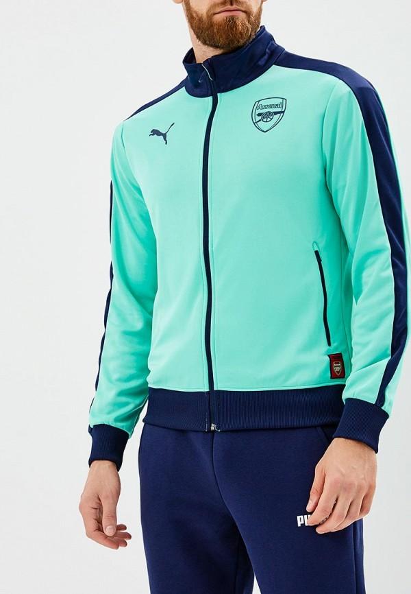 Купить Олимпийка PUMA, Arsenal FC Fan T7 Track Jacket, PU053EMCJJS3, бирюзовый, Осень-зима 2018/2019