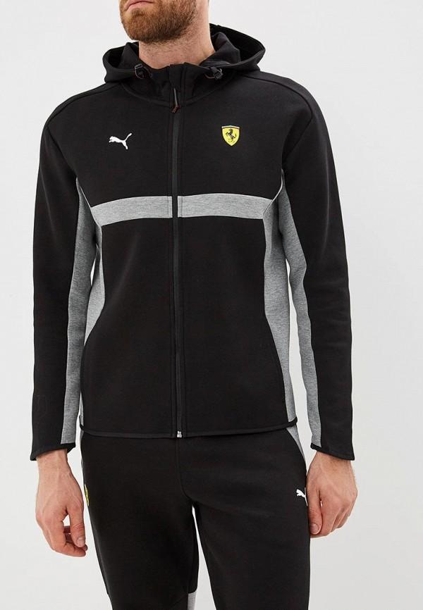 Купить Толстовка PUMA, SF Hooded Sweat Jacket, pu053emcjjy7, черный, Осень-зима 2018/2019