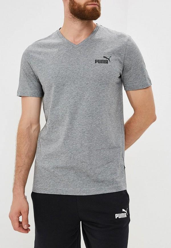 мужская футболка с коротким рукавом puma, серая