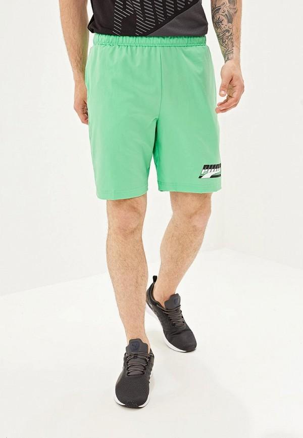 мужские спортивные спортивные шорты puma, зеленые