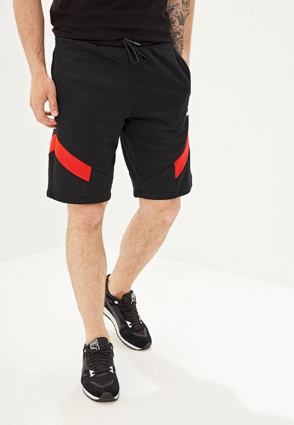 мужские спортивные спортивные шорты puma, черные