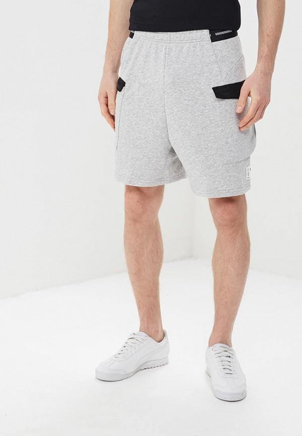 мужские спортивные спортивные шорты puma, серые