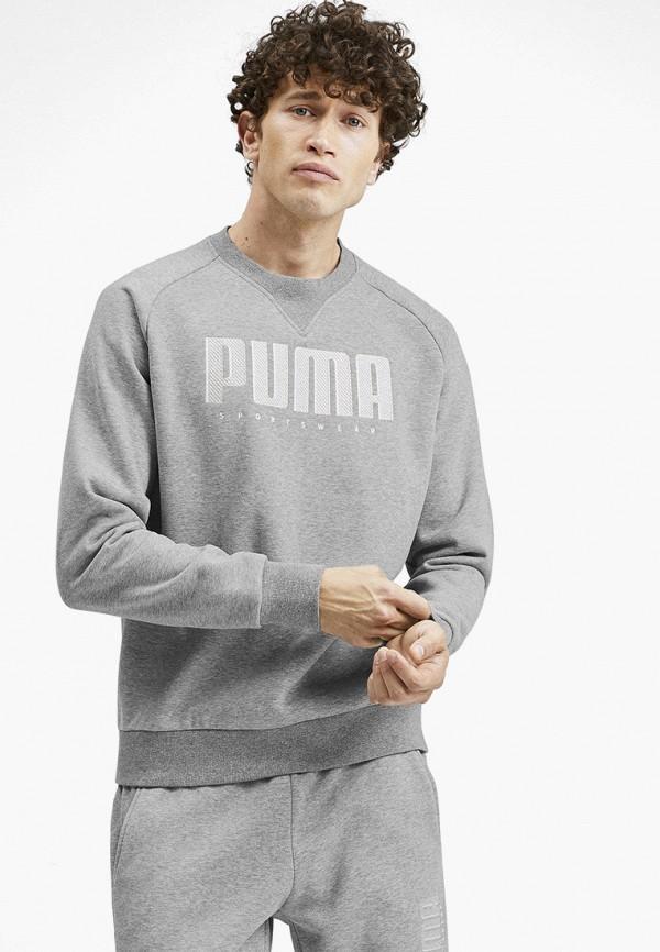 мужской свитшот puma, серый
