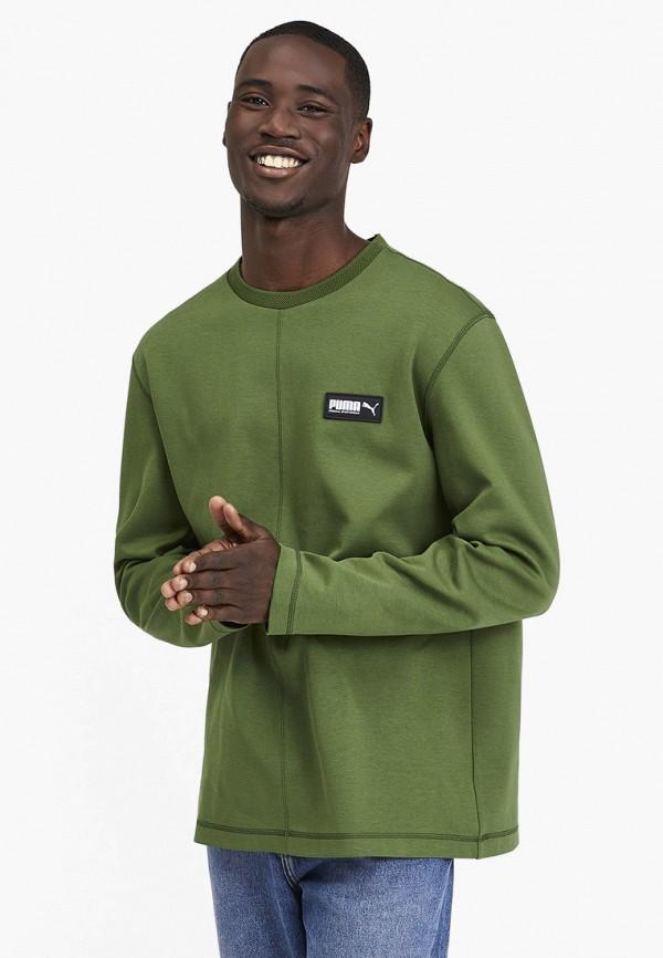 мужской свитшот puma, зеленый