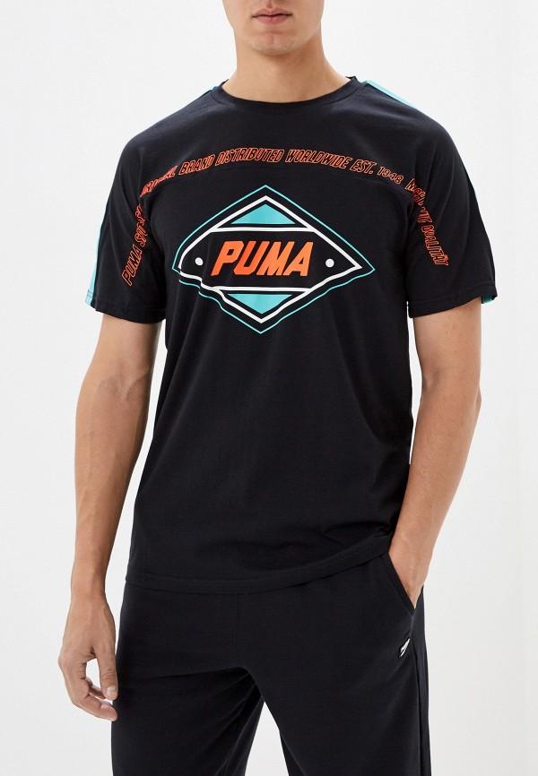 мужская спортивные футболка puma, черная