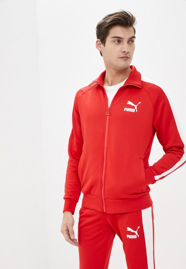 мужская олимпийка puma, красная