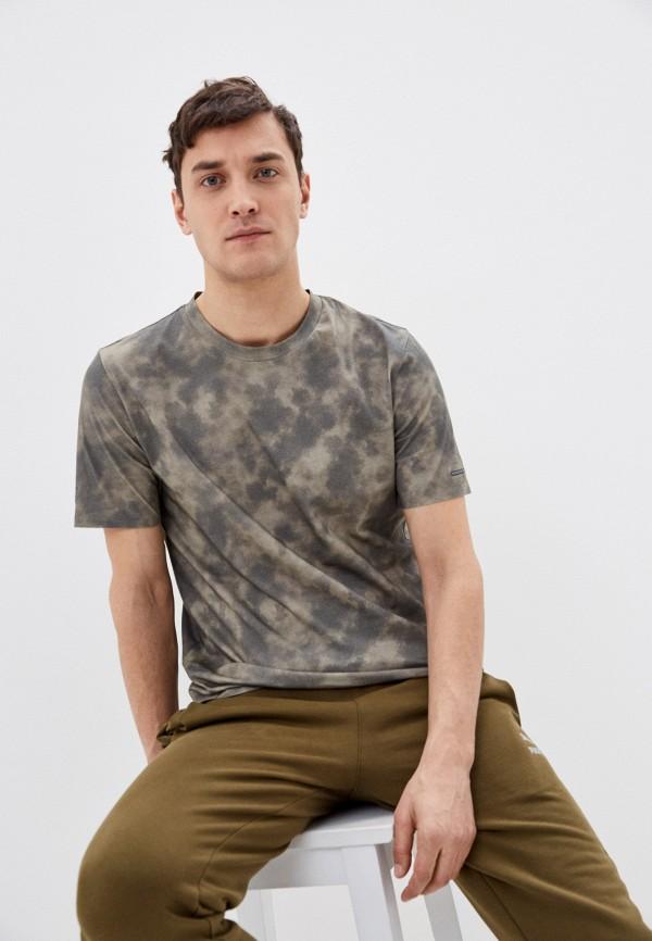 мужская спортивные футболка puma, зеленая