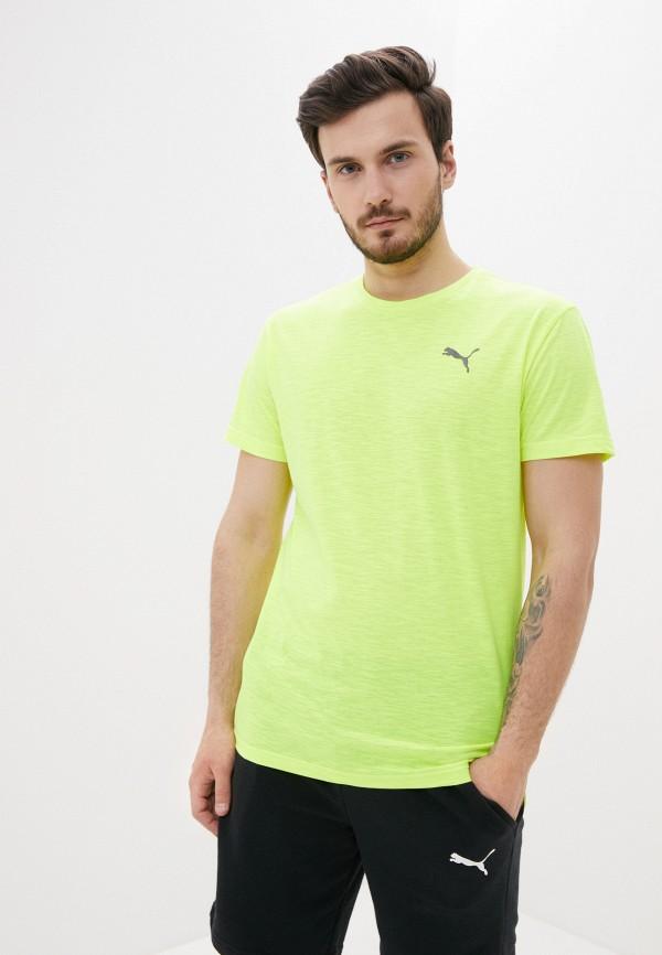 мужская футболка puma, желтая
