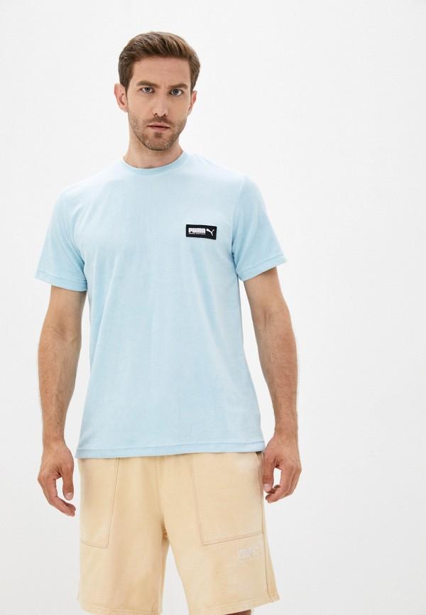 мужская спортивные футболка puma, голубая