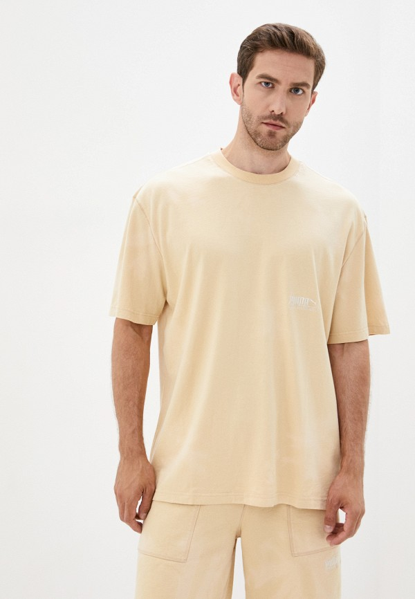 мужская спортивные футболка puma, бежевая