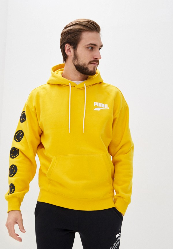 мужские худи puma, желтые
