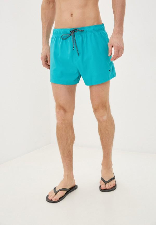мужские спортивные шорты puma, бирюзовые
