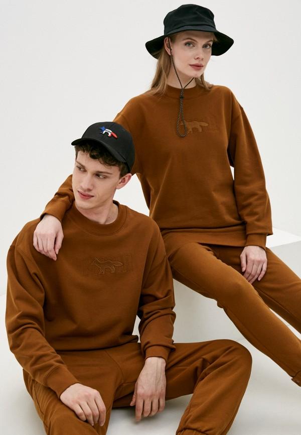 женский спортивные свитшот puma, коричневый