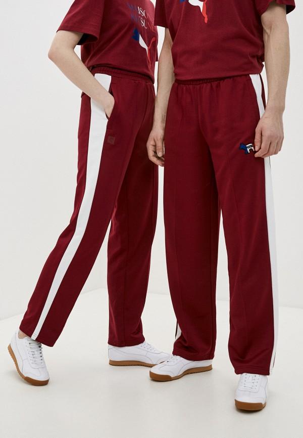 женские спортивные брюки puma, бордовые