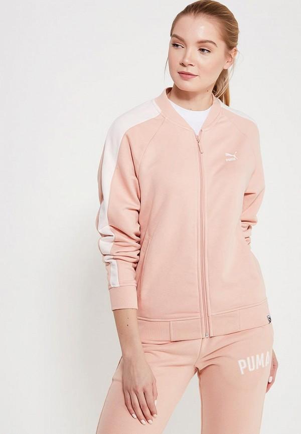 Купить Олимпийка PUMA, Classics Logo T7 Track Jaket, PU053EWAMVA3, розовый, Весна-лето 2018