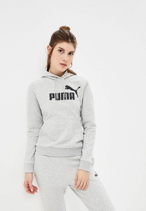 женские худи puma, серые