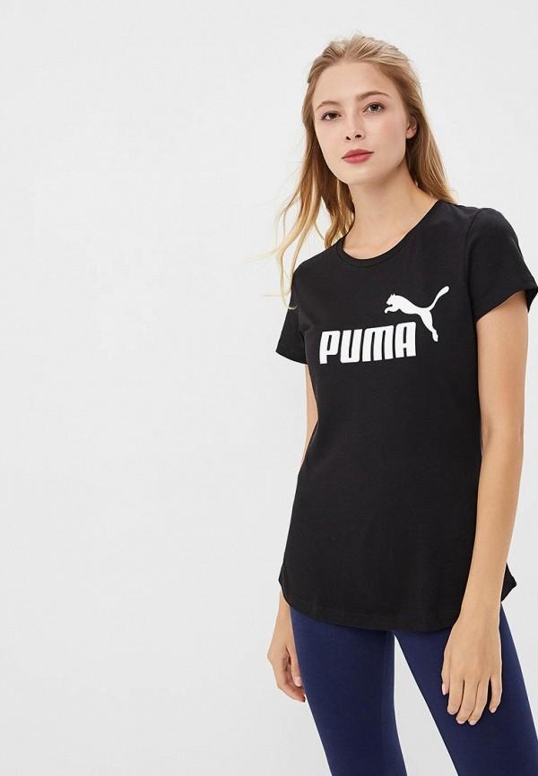 Купить Футболка PUMA, ESS Logo Tee, PU053EWCJMN0, черный, Осень-зима 2018/2019