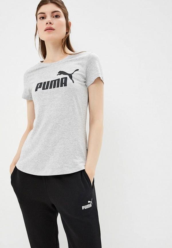 Купить Футболка PUMA, ESS Logo Tee, PU053EWCJMN2, серый, Осень-зима 2018/2019
