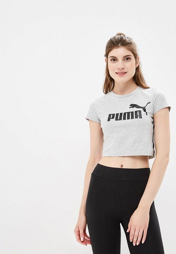 женская футболка puma, серая