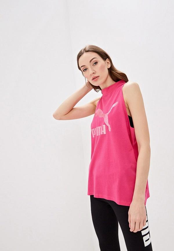 женская спортивные майка puma, розовая