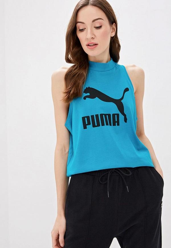 женская спортивные майка puma, голубая