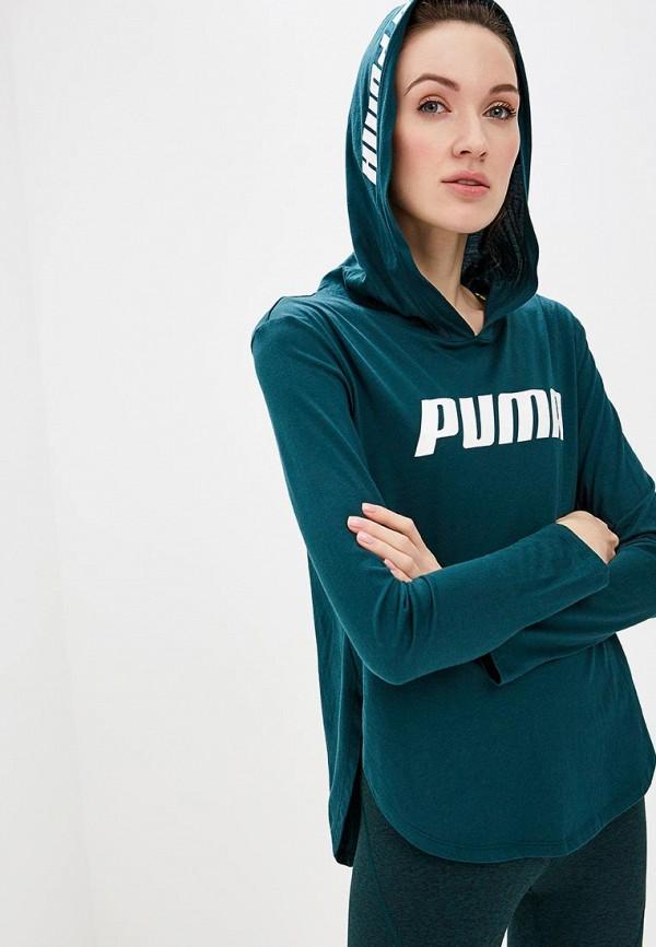 Купить Лонгслив спортивный PUMA, Modern Sports Light Cover up, pu053ewdzsa7, зеленый, Весна-лето 2019