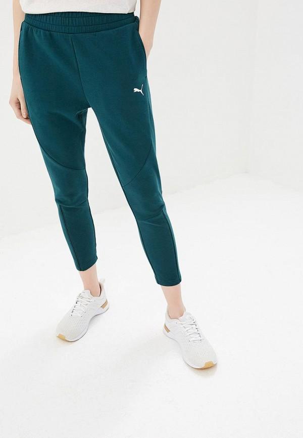 женские спортивные спортивные брюки puma, зеленые
