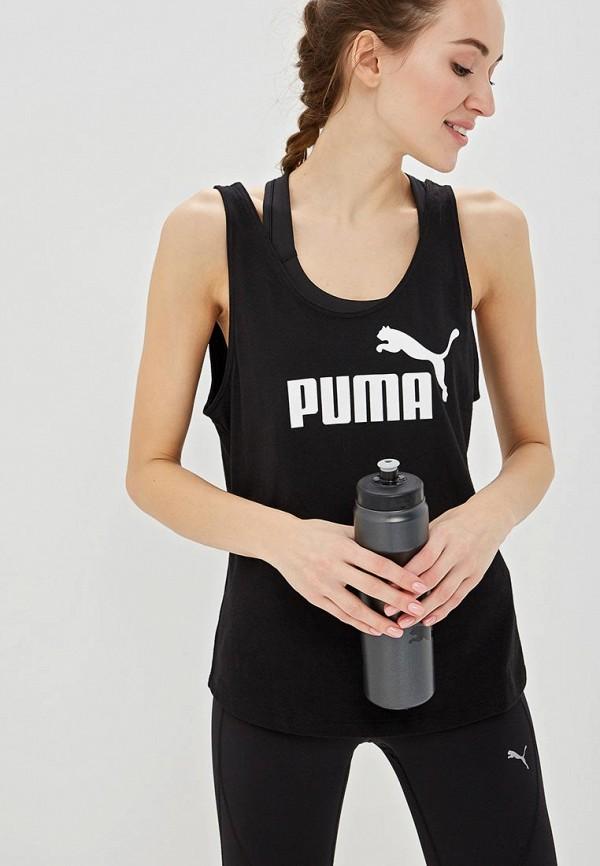 Купить Майка спортивная PUMA, ESS Logo Tank, pu053ewdzsq8, черный, Весна-лето 2019