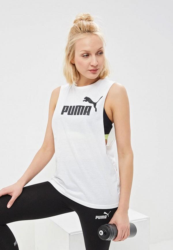 Купить Майка спортивная PUMA, ESS+ Cut Off Tank, pu053ewdzsr2, белый, Весна-лето 2019
