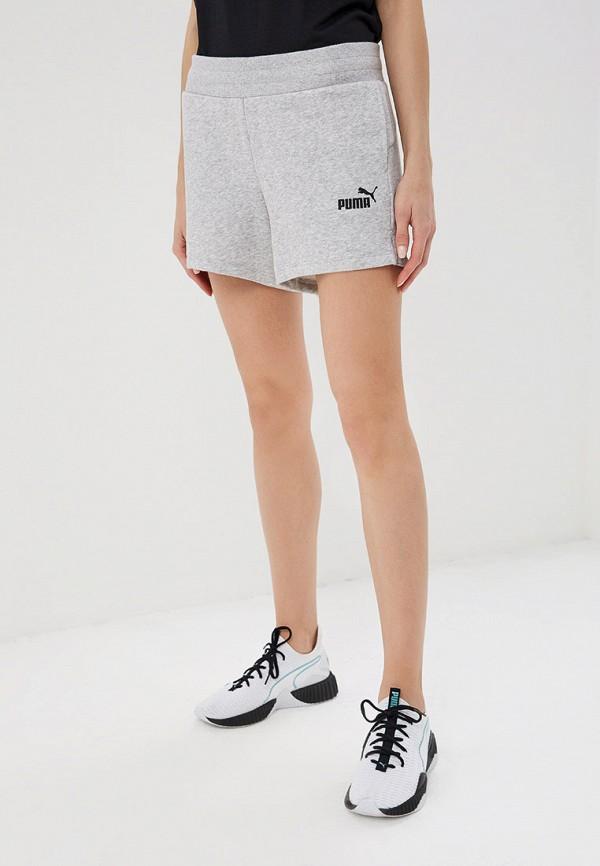 женские спортивные шорты puma, серые
