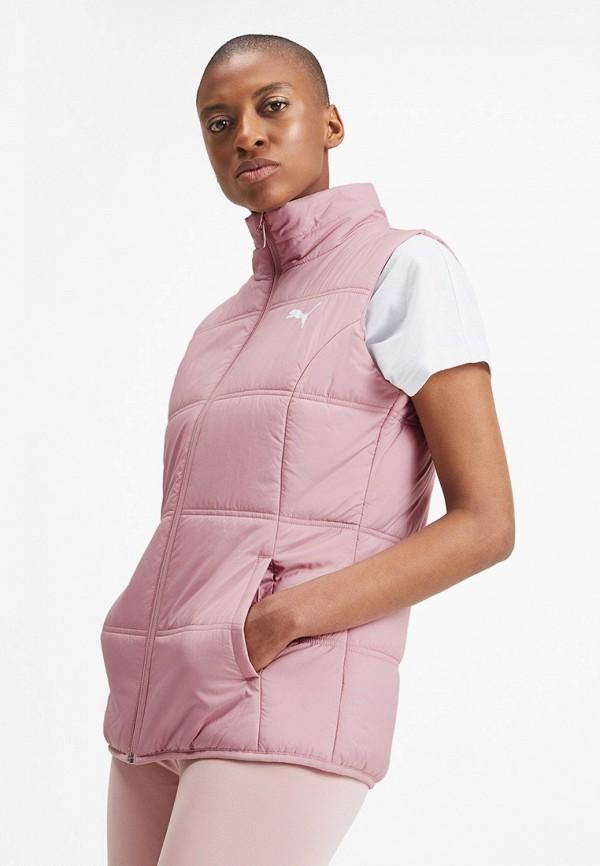 женский жилет puma, розовый