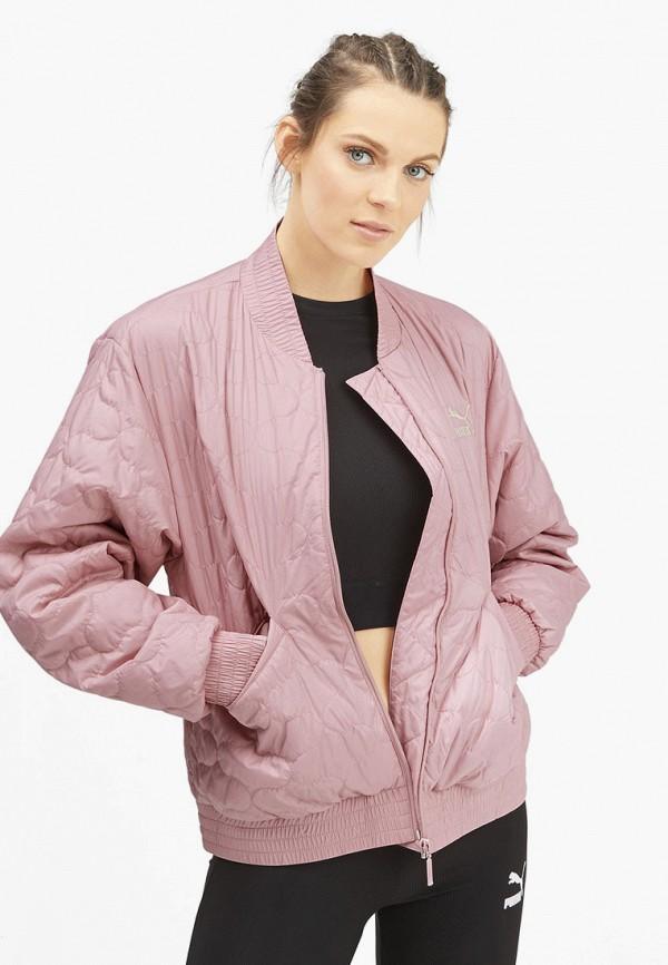 женская куртка puma, розовая