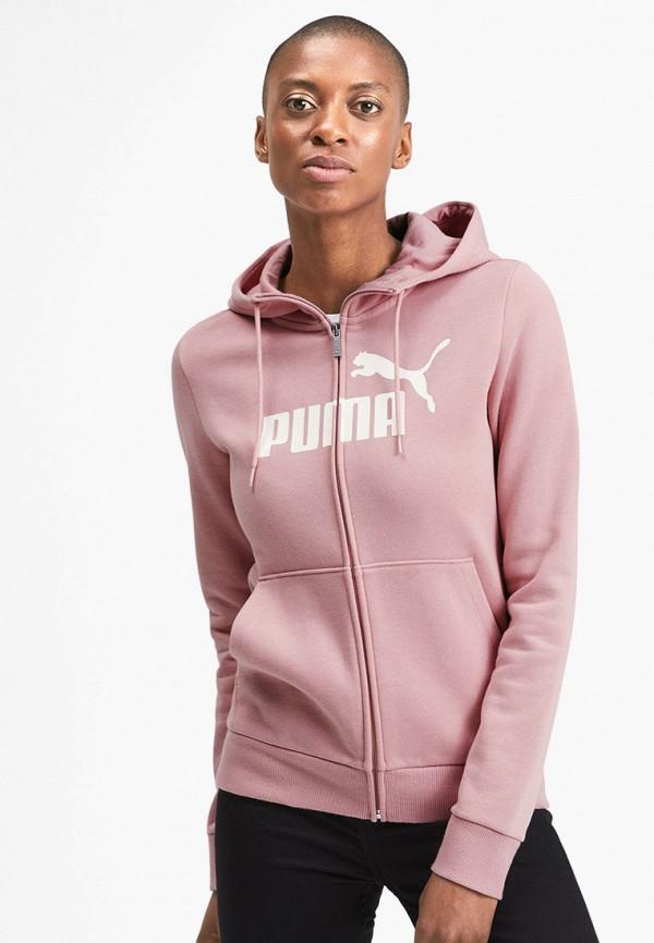 женская толстовка puma, розовая