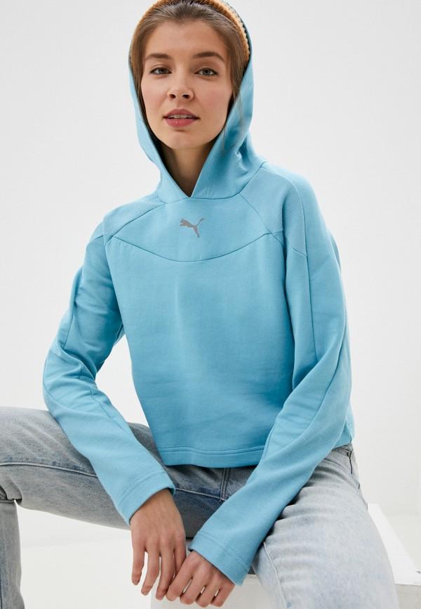 женские худи puma, голубые