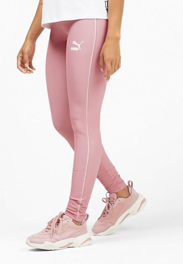 женские спортивные леггинсы puma, розовые