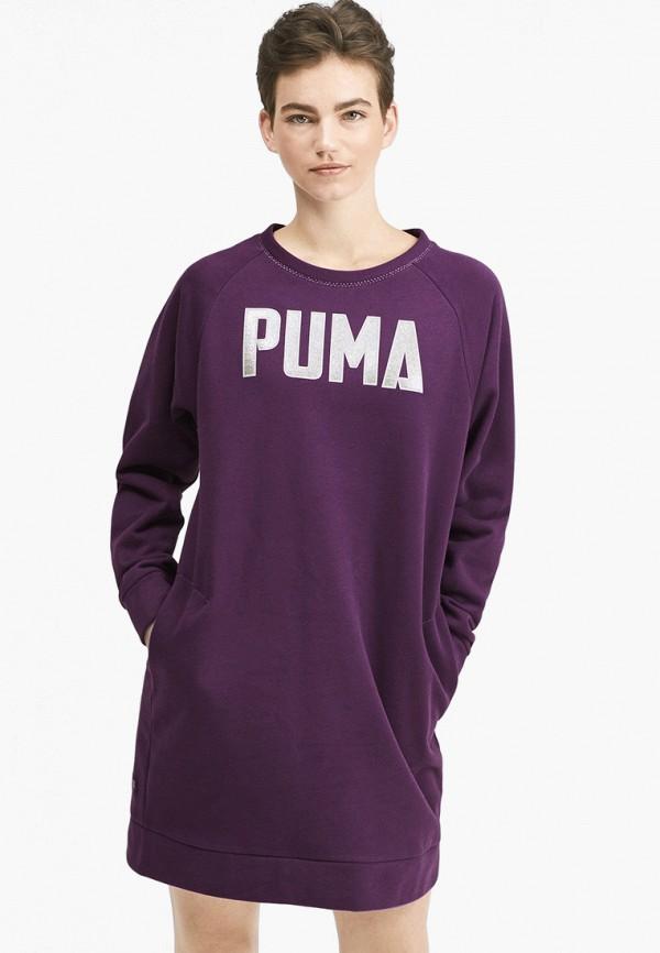 женское спортивные платье puma, фиолетовое
