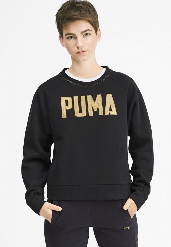 женский свитшот puma, черный