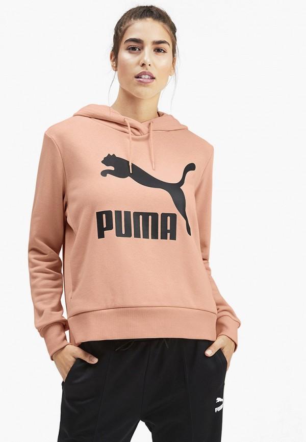 женские худи puma, розовые