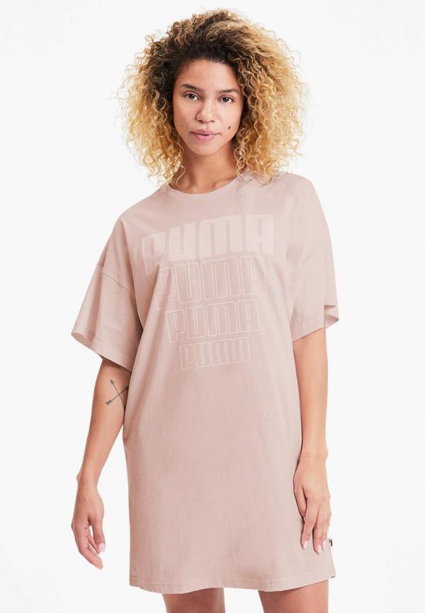 женское спортивные платье puma, розовое