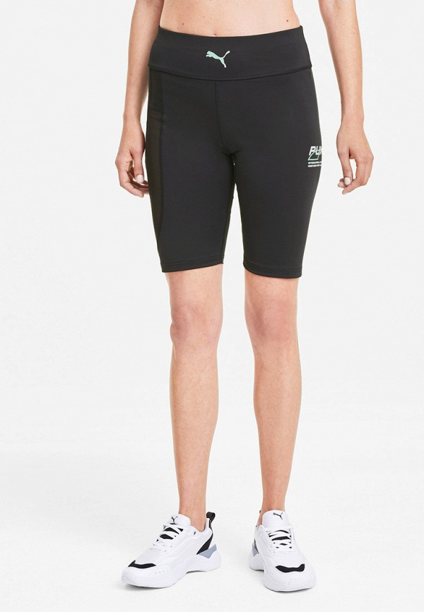 женские спортивные шорты puma, черные