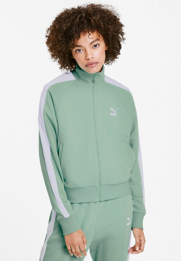 женская олимпийка puma, зеленая