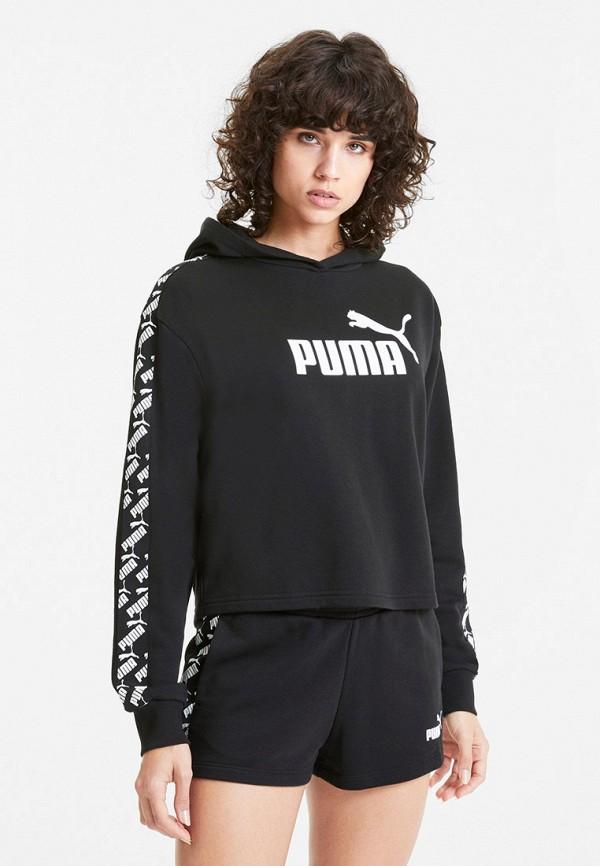 женские худи puma, черные