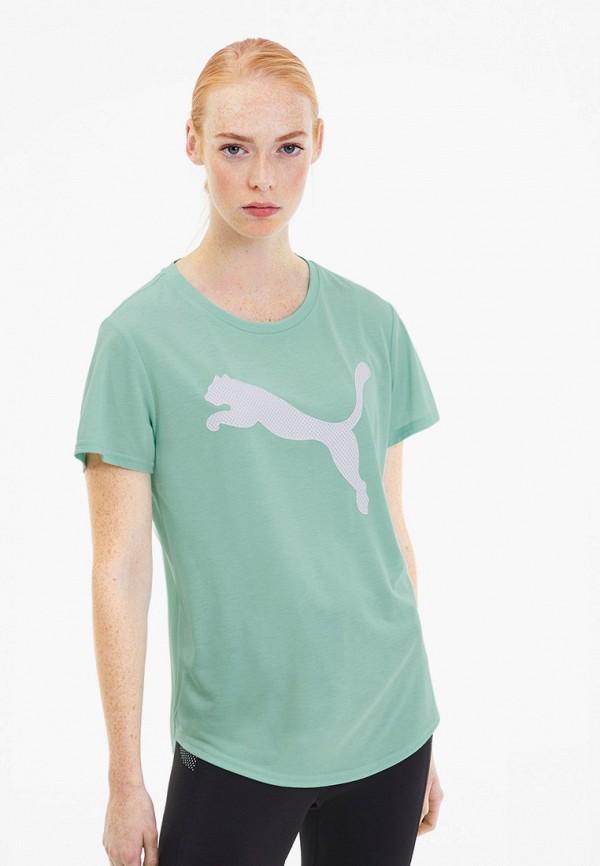 женская спортивные футболка puma, бирюзовая